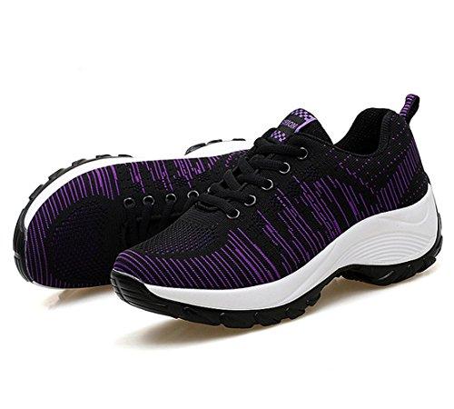 Mujer de Zapatillas Calzados Negro Deportivos Verano Primavera Running mogeek y de Para qIfzKwH