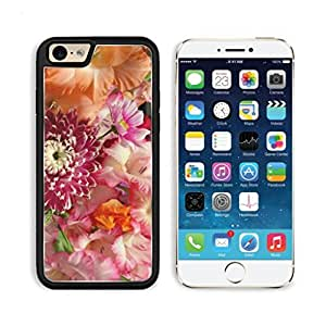 Flowers Bouquet Bright Colors Beautiful Apple iPhone 6 TPU Snap Cover Premium Aluminium Design Back Plate Case Customized Made to Order Support Ready Luxlady iPhone_6 Professional Case Touch Accessories Graphic Covers Designed Model Sleeve HD Template Wal