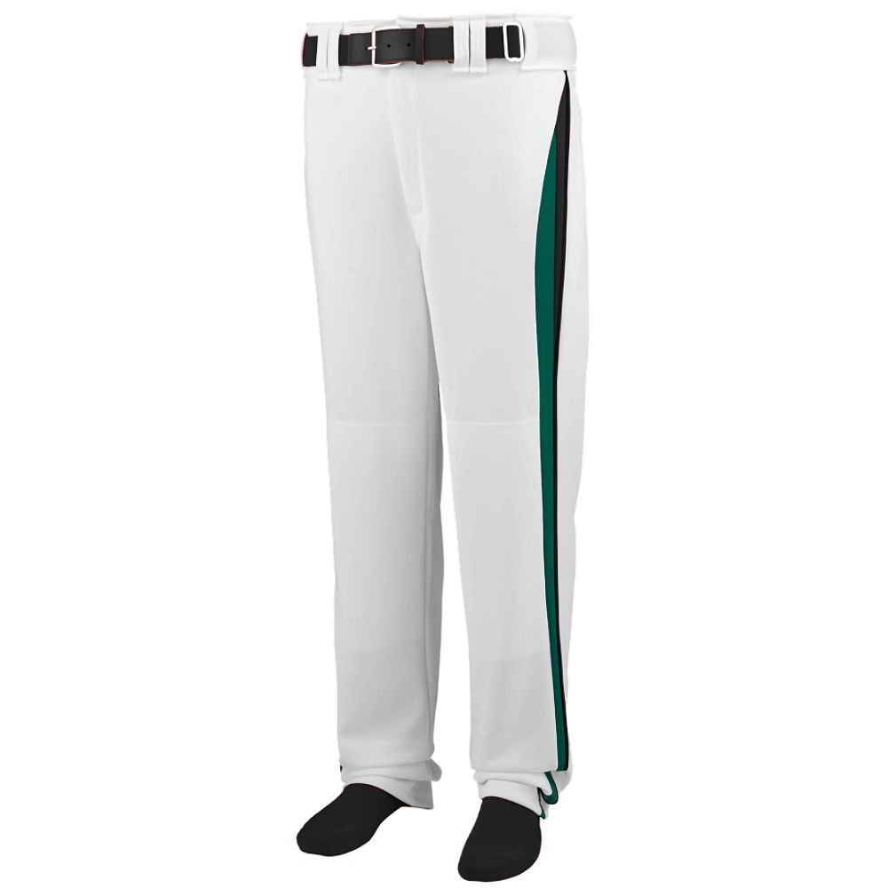 Augusta Sportswearメンズラインドライブ野球パンツ B00HJTNDGI Large|White/Dark Green/Black White/Dark Green/Black Large