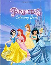 Princess Coloring Coloring: 72 plus cute and unofficial Princesses Illustrations for kids to practice coloring and keep them busy
