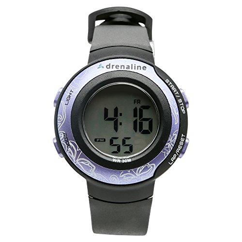 Freestyle Unisex AD50671 Adrenaline Round Digital Purple Bezel Fitness Watch