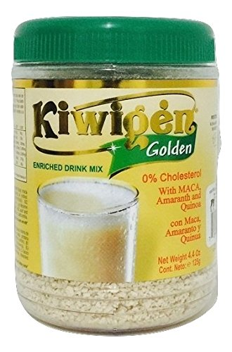 Kiwigen Golden Enriched Drink Mix with Maca, Amaranth and Quinoa 4.4 Oz.