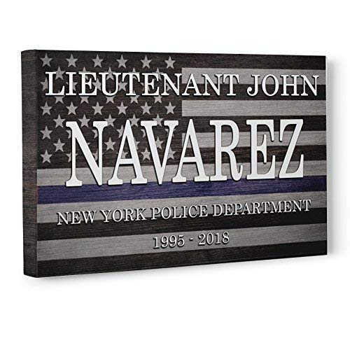 Police Officer Flag Retirement Gift Canvas Wall Art Decor