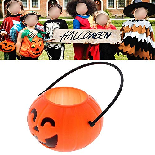 BinaryABC Halloween Pumpkin Buckets,Halloween Candy Basket,Trick or Treat Bucket,Halloween Party Supplies 17cm ()