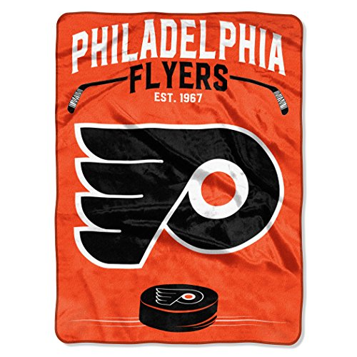 "The Northwest Company Officially Licensed NHL Philadelphia Flyers Inspired Plush Raschel Throw Blanket, 60"" x 80"""