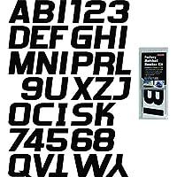 Hardline Products BLK700EC Solid Black Factory Matched Registration Number Kit
