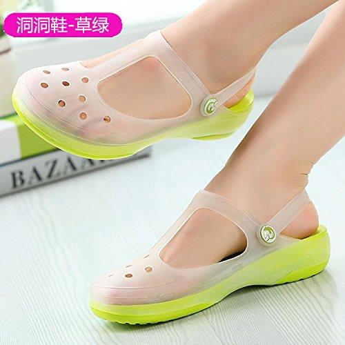 Rosa Moda Agujero Cambio de Color de de Sandalias Sandalias 40 Suave Zapatos de Zapatos Playa 39 Mujer 39 Yardas – de pies para Inferior ITTXTTI Verano xfqI4n