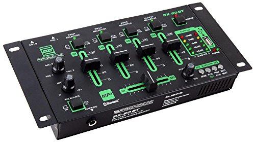 Pronomic DX-50 4-Kanäle USB DJ-Mixer (Inkl. Cinch-Kabel)