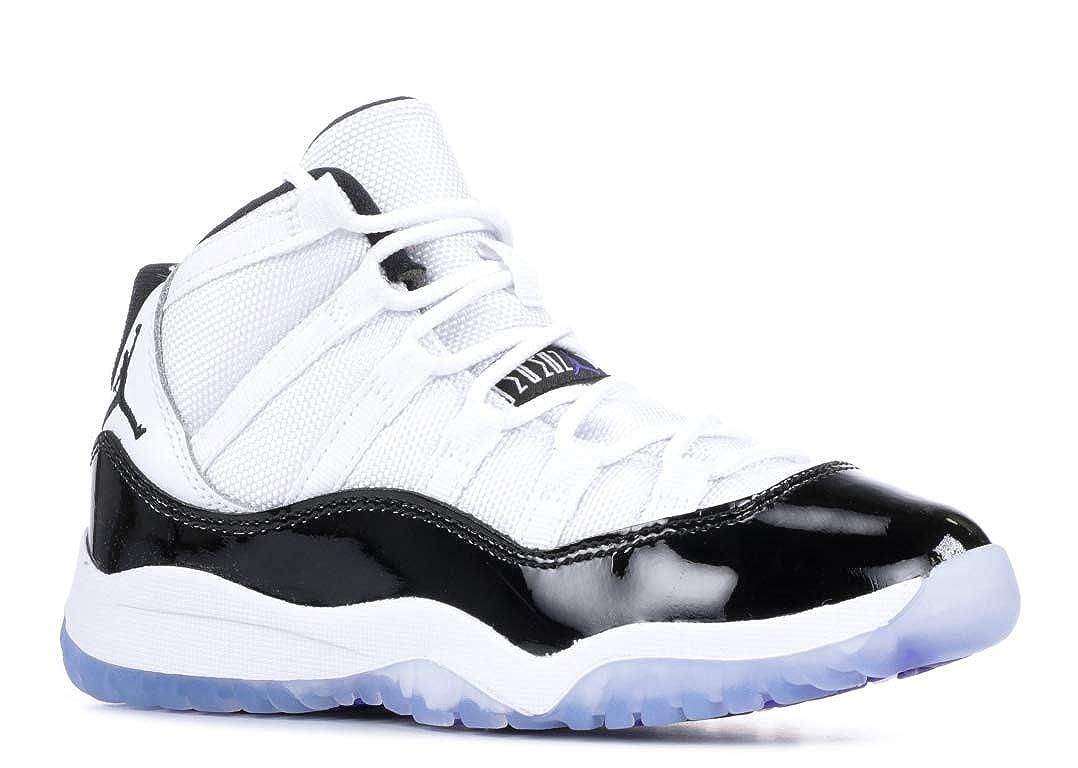promo code e2968 678e5 Jordan Kids' Preschool Air Retro 11 Basketball Shoes (1, White/Concord)