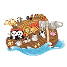 RoomMates RMK2036SLM Noah's Ark Peel and Stick Giant Wall Decals