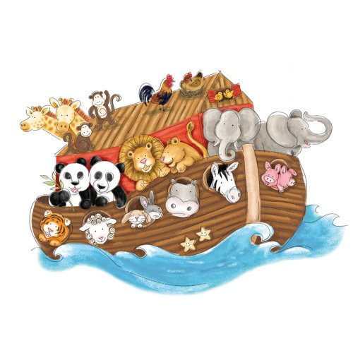 RoomMates RMK2036SLM Noahs Ark Peel and Stick Giant Wall Decals