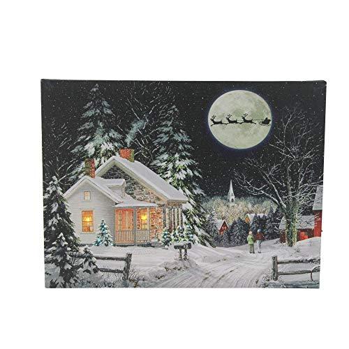 Santa Claus Wall (Northlight LED Fiber Optic Lighted Santa Claus Coming to Town Christmas Wall Art 15.75