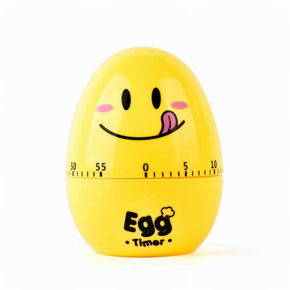 omufipw - Temporizador de huevo de cocina (60 minutos, con forma de huevo, con alarma giratoria mecánica) 3.14 X 2.6 X 2.6 Inches amarillo