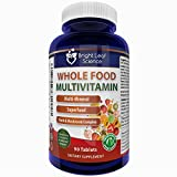 Whole Food Daily Multivitamin Digestive Enzymes Probiotics Antioxidants Herbs and Minerals Natural Nutrition for Men & Women 90 tablets