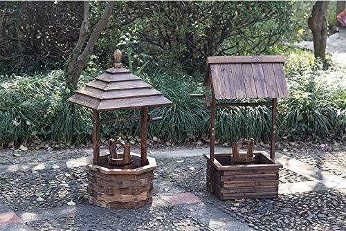 Mkuha Pozo plantador de Madera,Caja macetero Barril jardín Flores Pot Maceta de Madera, 2: Amazon.es: Hogar
