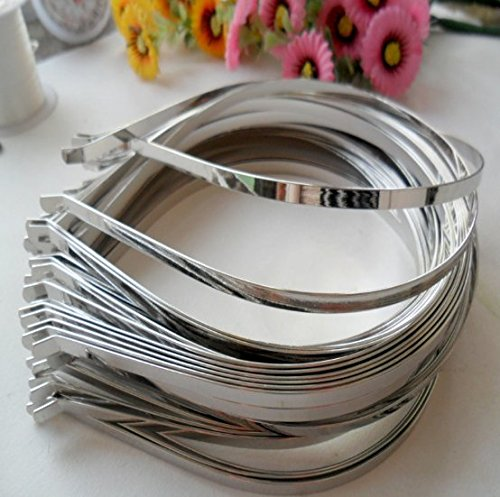 60pcs 3mm Stainless Steel Hoop Metal DIY Findings Hairband/Headband/Hair Band Blank/Hair Accessories