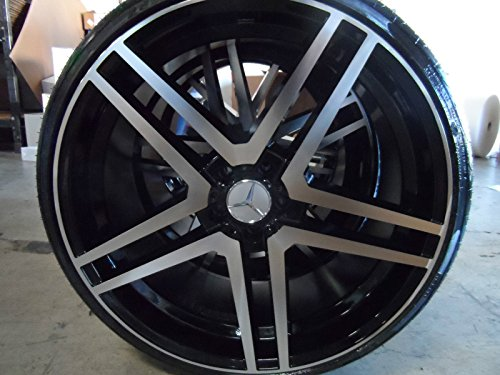 new 22 u0026quot  staggered mercedes s class style wheels with new front 255  30  22 rear 295  25  22 lexani