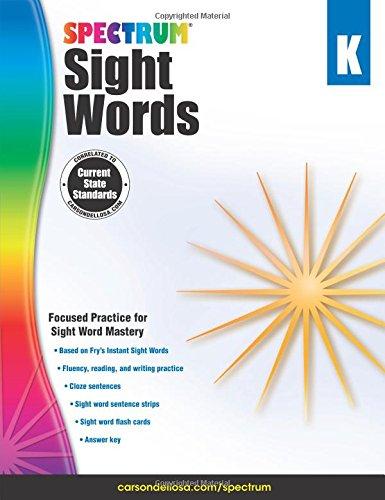 Spectrum Sight Words, Grade K