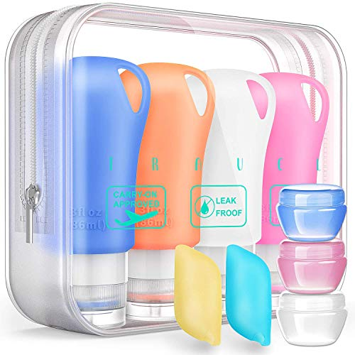 Silicone Travel Bottles Set,Leak Proof Travel Size container For Toiletries,Leak Proof Silicone Travel Accessories And Conditioner Bottles ,Perfect For Personal Travel