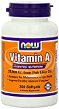 Now Foods Vitamin A, 25000 IU from Fish liver oil, 750 Soft-gels (250 x 3 Bottles) (a2fzg52) Now-fw7v