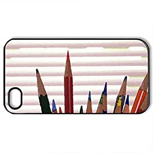 Interior decoration architecture - Case Cover for iPhone 4 and 4s (Houses Series, Watercolor style, Black)