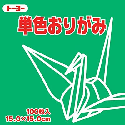 Toyo Origami Paper Single Color - Green - 15cm, 100 Sheets