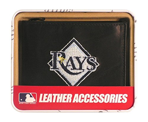 MLB Tampa Bay Devil Rays Embroidered Genuine Cowhide Leather Billfold Wallet