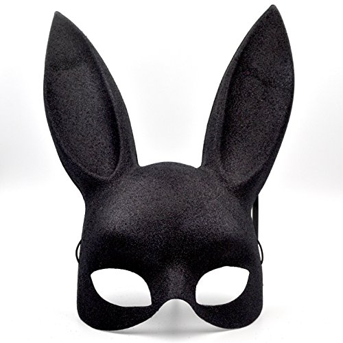Sexy Black Bunny Mask - Great for a Masquerades & 2018 New Years Eve Party -