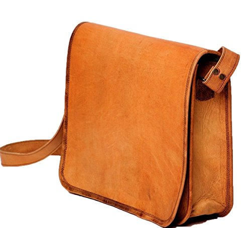 Leather Saddler crossbody satchel shoulder purse handbag 9x11 inch