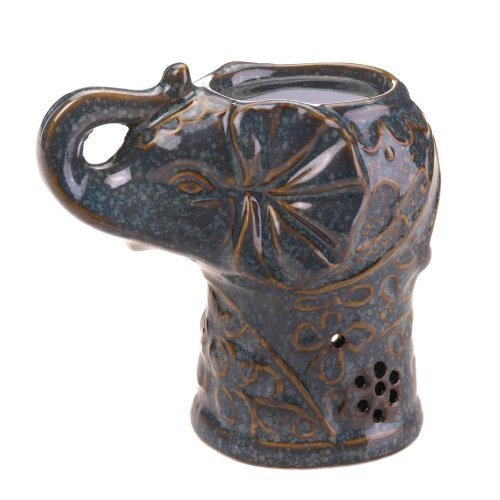 Lucky Elephant Oil Warmer - Wine Holder Wagon
