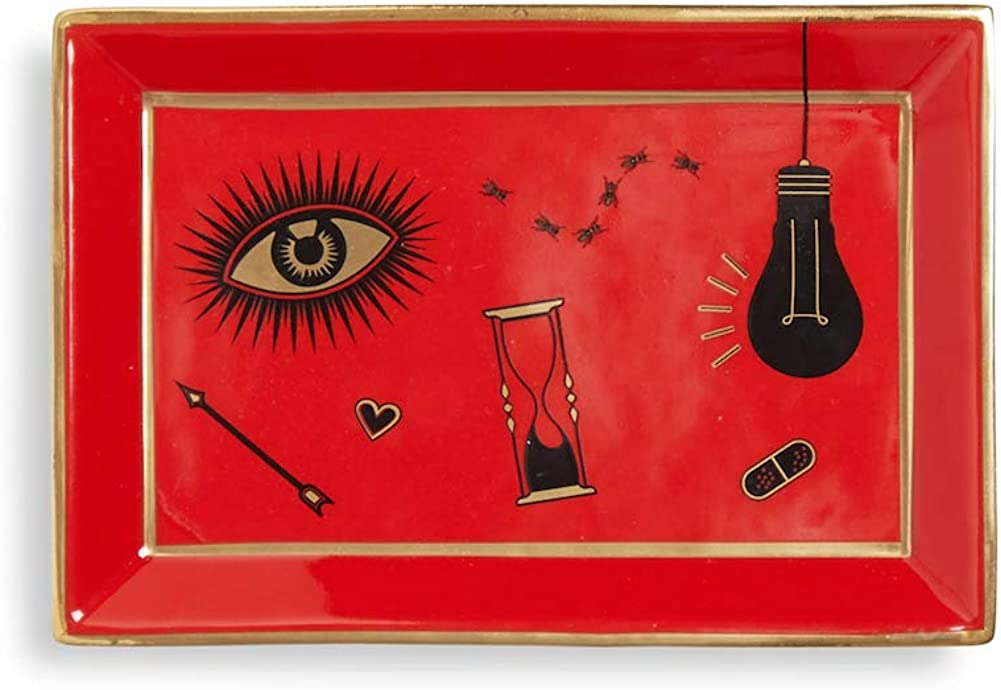 Jonathan Adler Bijoux Tray, Red, One Size