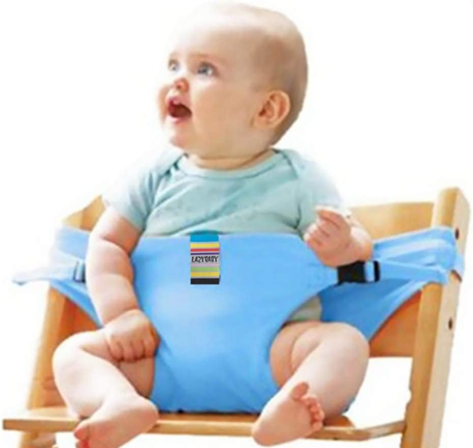 color azul Cintur/ón de seguridad para silla de comer port/átil y suave