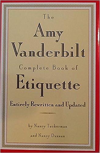 Vanderbilt etiquette