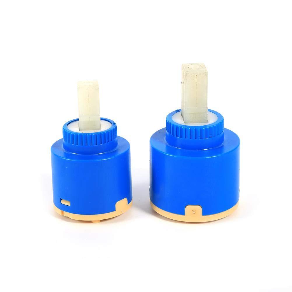 Cartouche en c/éramique Bobine de Robinet scell/ée /à Un Trou pour Pieds Plats de 35//40 mm 35mm /à Installer dans Les robinets