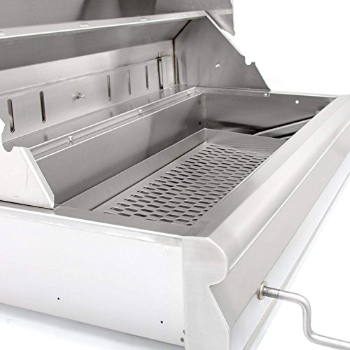 Blaze 32-inch Charcoal Grill with Adjustable Charcoal Tray (BLZ-4-CHAR-BLZ-4-CART), Freestanding