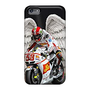 LauraAdamicska Apple Iphone 6 Plus Shock Absorbent Hard Cell-phone Case Unique Design Fashion Rip Marco Simoncelli Image [dHX14891GLAr]