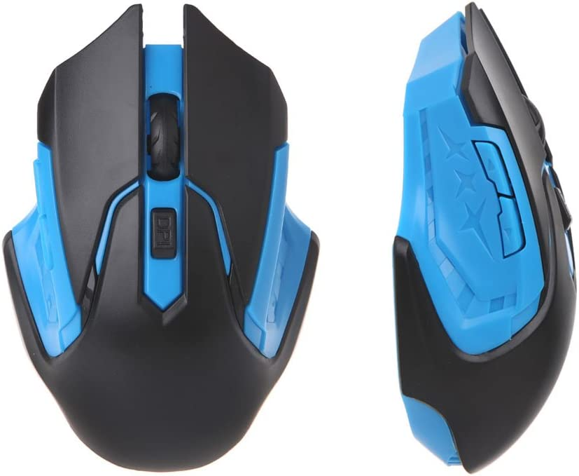 CUCUDAI 2.4GHz USB Optical Wireless Mouse USB Receiver Mice Cordless Game Computer PC