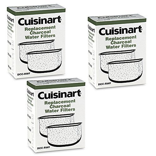 Cuisinart DCC-RWF *Triple Pack* Charcoal Water Filters in Cuisinart DCC-RWF Retail Box Cuisinart Charcoal Coffee Filters
