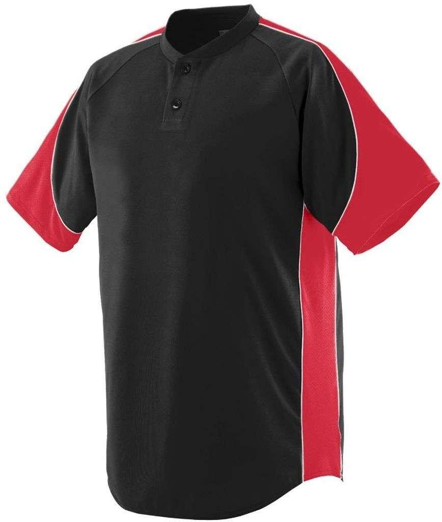 Augusta Sportswear Boys ' Blast Baseball Jersey B00E1YTNSQ Small|ブラック/レッド/ホワイト ブラック/レッド/ホワイト Small