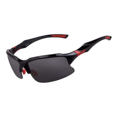 Nalkusxi Gafas Deportivas Gafas de Sol polarizadas para Hombres Gafas Protectoras contra Rayos UV 100%