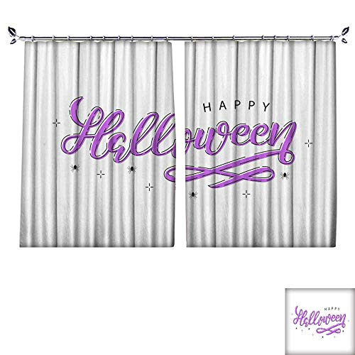 Customized Curtains Vector realistic isolated typography for Halloween and spiders with thin line art design for decoration and covering on the white background Concept of Happy Halloween W63
