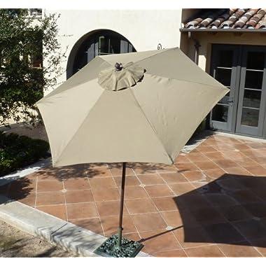 7.5ft aluminum market umbrella with crank & Tilt function - Taupe