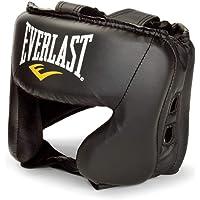 Everlast 4022 Boxe casque pour arts martiaux - casques pour arts martiaux (Boxe, Noir, Simili-cuir, Taille unique)