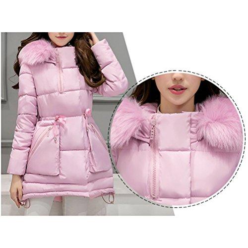 para Winter Warm Fashion Gray Thick Long Hooded Coats Down Jacket Slim Abrigo Mujeres Padded Invierno Ladies Zhhlaixing vq4EPc