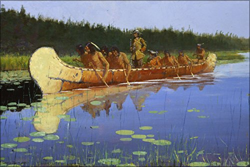 24x36-poster-frederic-remington-radisson-and-groseilliers-1905