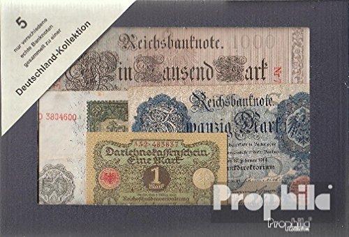 Prophila billetes para coleccionistas: Alemania 5 diferentes billetes