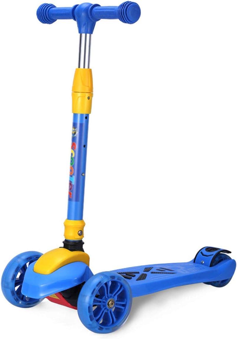 子供用スクーター、軽量スクーターミニスケートボード折りたたみ式デザイン調節可能なハンドルバーシティスクーターボーイガールホリデーギフト、3輪スクーター B