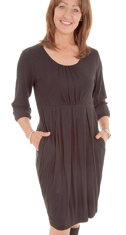 New Masai Clothing Dress Grizelda 163006146, Black, Sheath, Three Quarter Sleeve