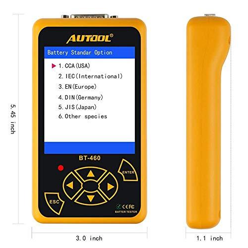 LIANA IRWIN AUTOOL BT460 Car Battery Test Battery Life Battery Capacity Measurement Internal Resistance Start Tester:
