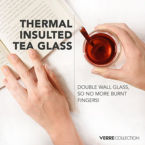 Original Double Wall Turkish Tea Glass Cups, 4.25 Ounce, Set of 2 - Insulated Thermo Glass - Verre Collection by Verre Collection (Image #2)
